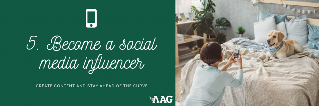 Become a social media influencer in retirement