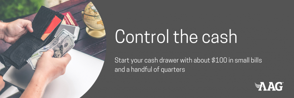 Control your cash and start a cash drawer during a yard sale