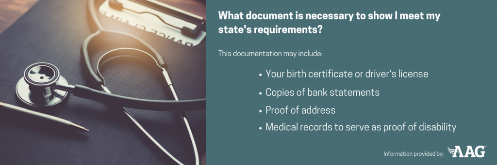 What documents are necessary to show you meet requirements for medicaid
