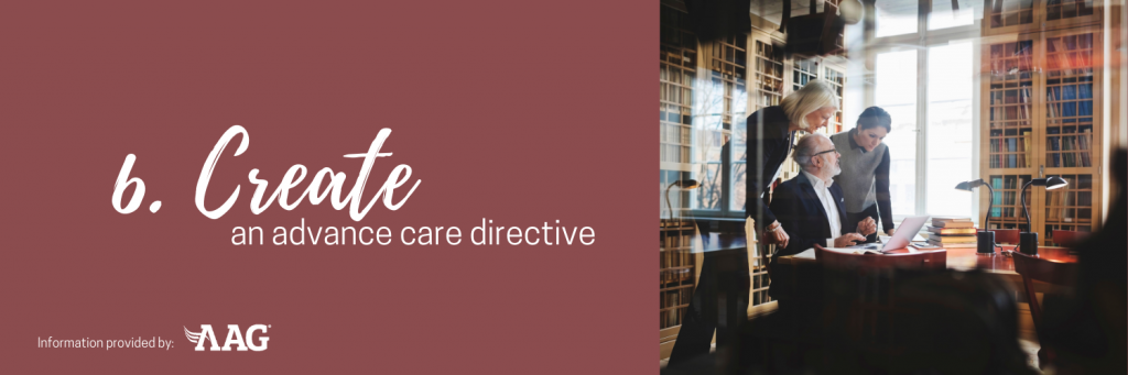 Create an advance care directive