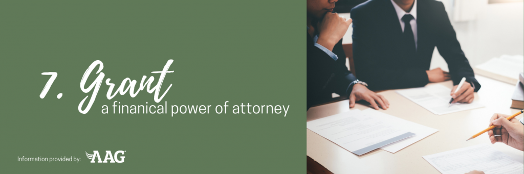 Grant a financial power of attorney