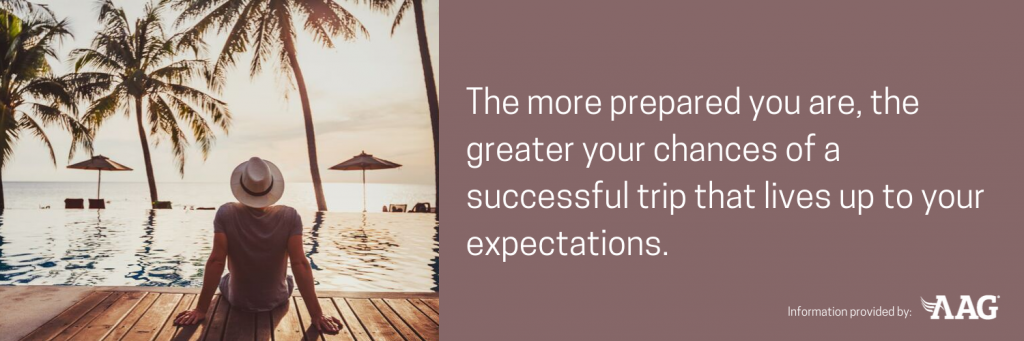 Have a successful trip that lives up to your expectations