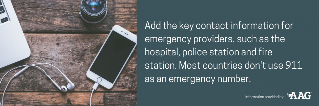 Know the emergency providers in each country