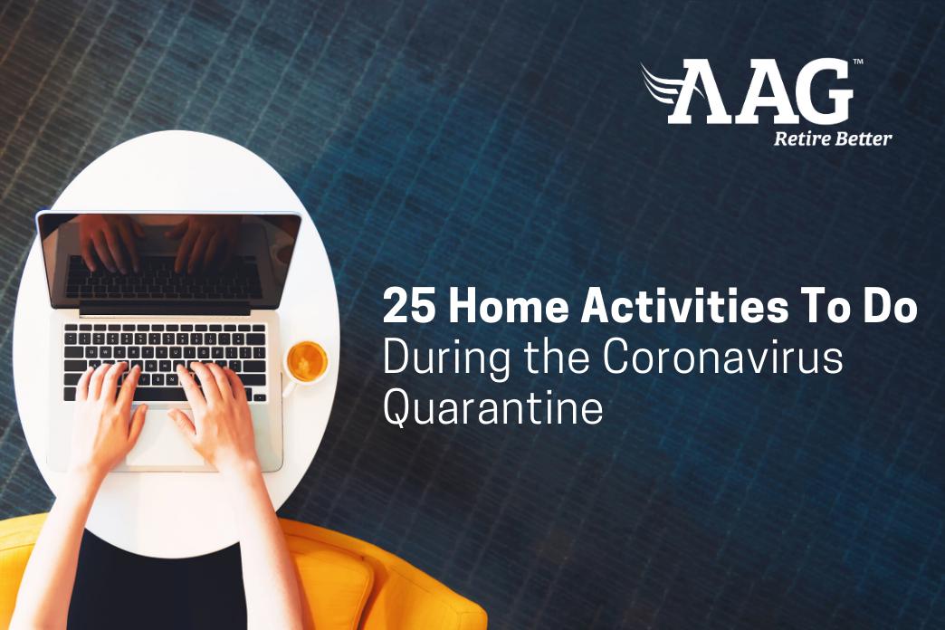 25 Home Activities To Do During The Coronavirus Quarantine
