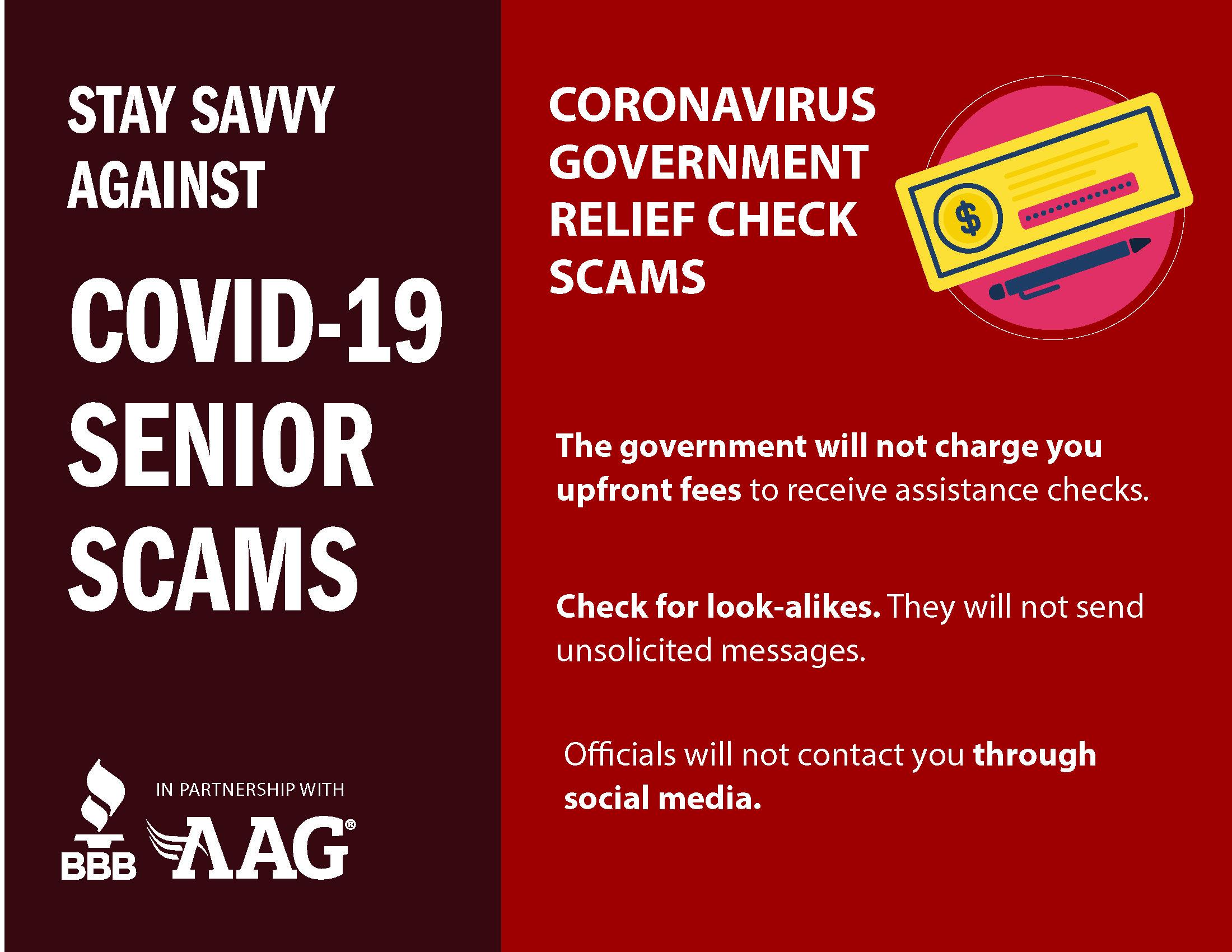 Coronavirus Government Relief Check Scams