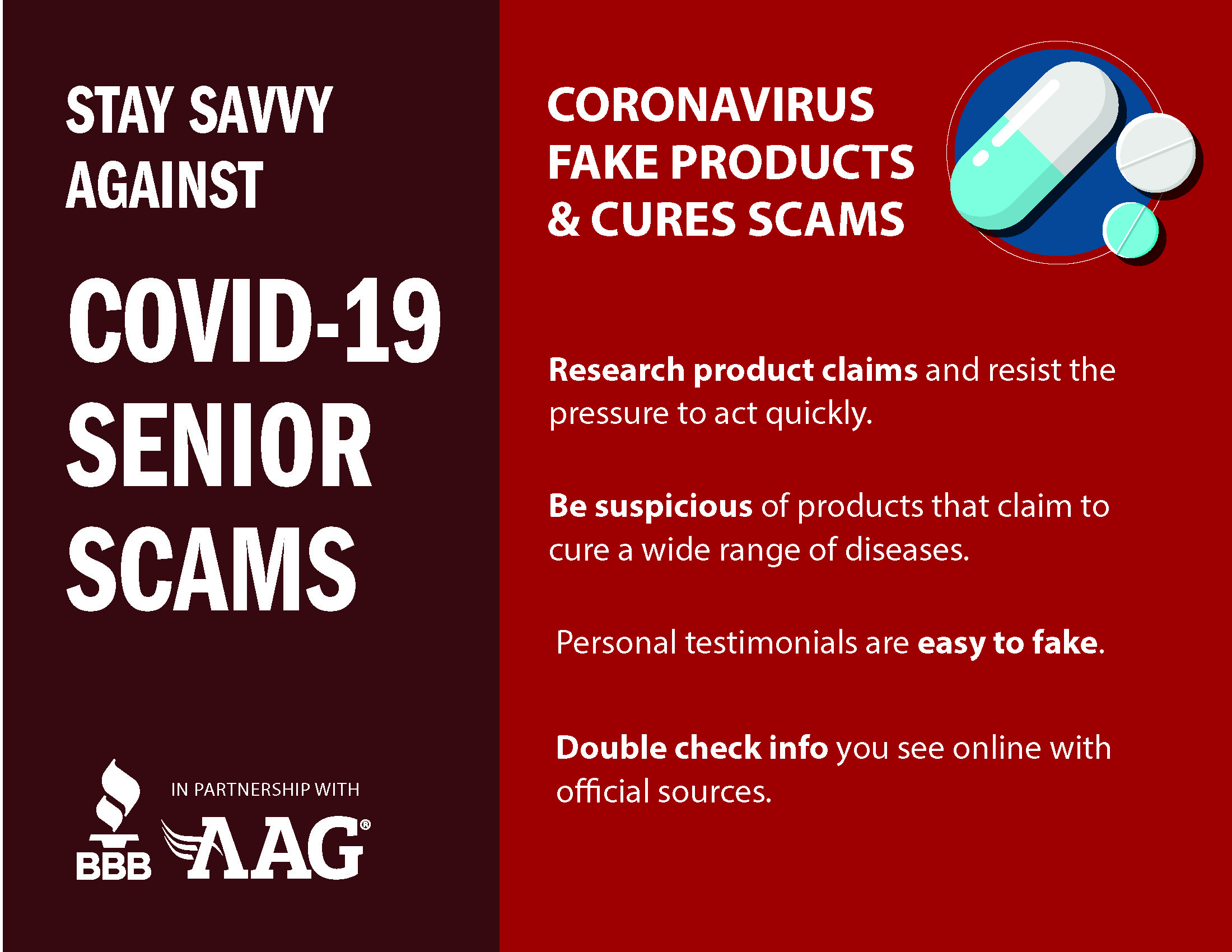 Coronavirus Fake Products & Cures Scams
