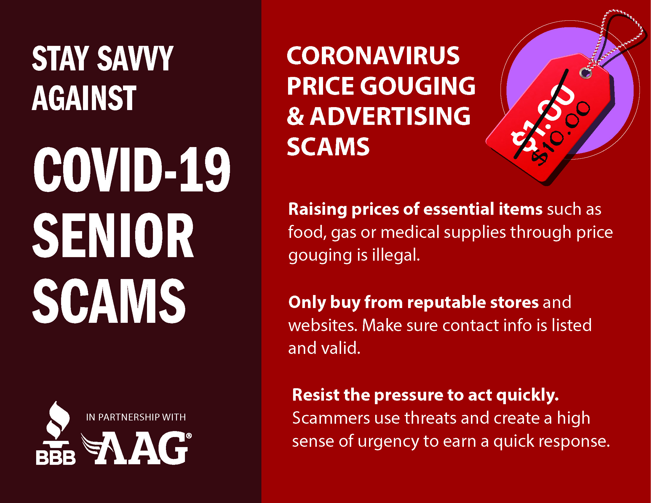 Coronavirus Price Gouging & Advertising Scams