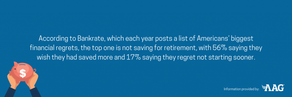 Not saving for retirement is one of American's biggest financial regrets