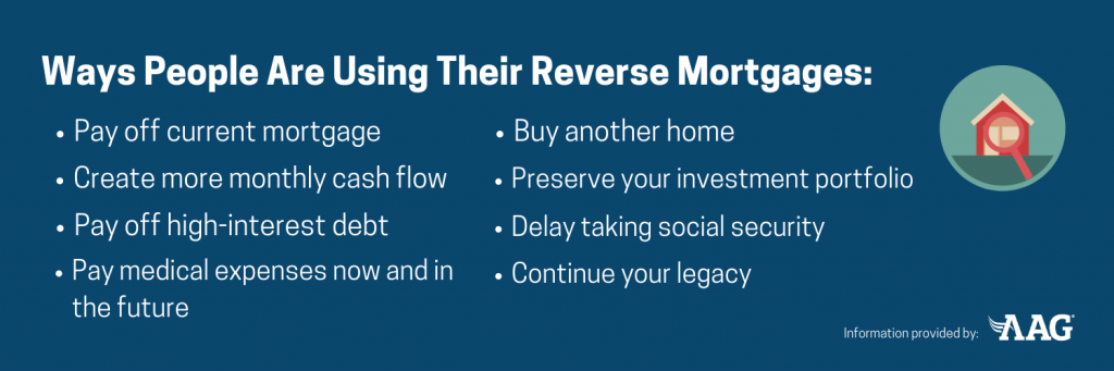 Ways people are using their reverse mortgages